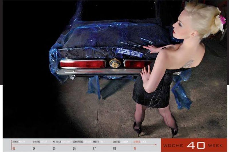 Легендарные автомобили США и девушки