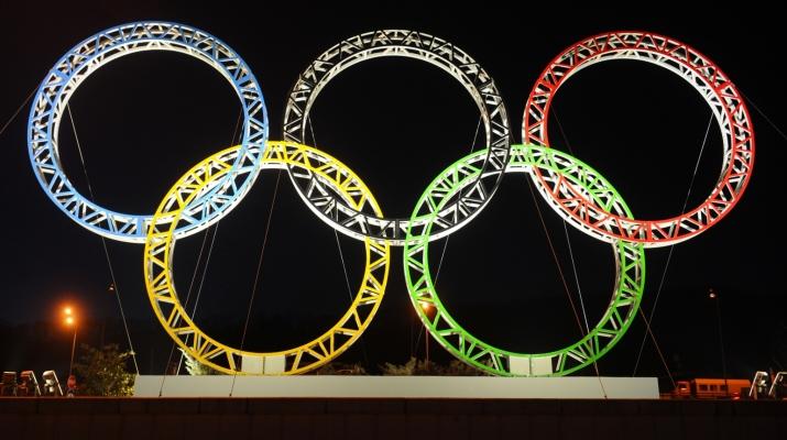 Олимпийский кольца в Сочи 2014
