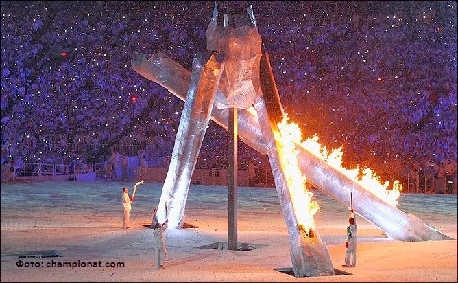 Не вышедшая колонна для зажжения олимпийского огня в Ванкувере 2010