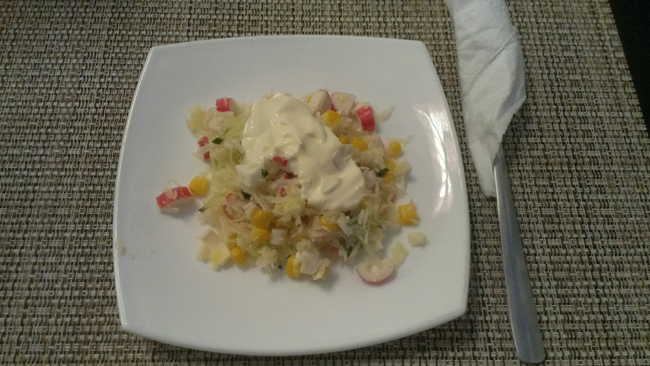 Салат из крабовых палочек с капустой в Кафе Pallazzi