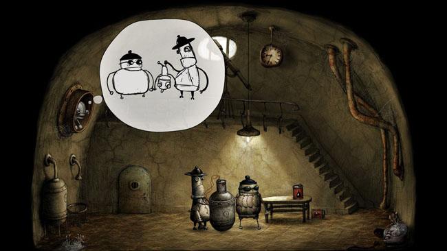 Банда Черные шляпы закладывает бомбу в Machinarium